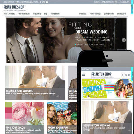 Friar Tux Shop Mobile App Development