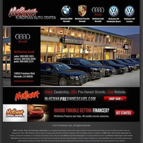 McKenna European Auto Center SEO Marketing