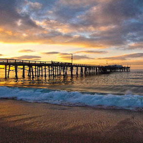 Sunset at the Newport Beach Pier