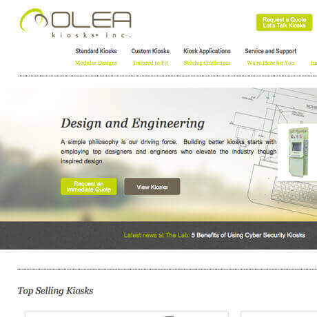Olea Kiosks, Inc. SEO Marketing
