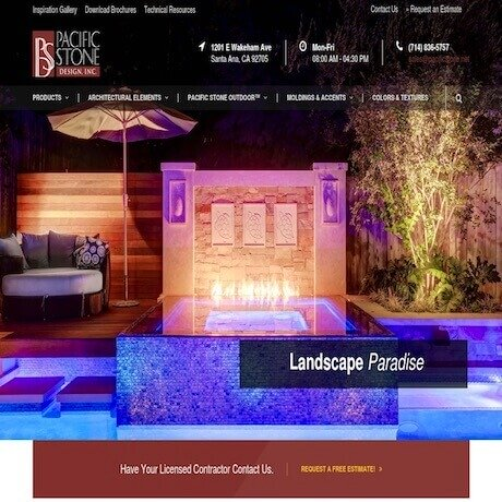 Pacific Stone Design, Inc Website Design